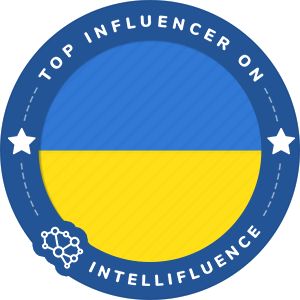 Lyuba Tyshchenko's Ukraine Badge