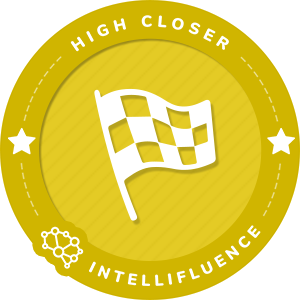 Caryn Harlos High Closer Influencer Badge