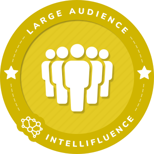 Caryn Harlos Large Audience Influencer Badge