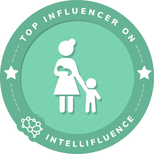 Angela Place Wiliams Top Mommy Influencer Badge