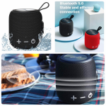 Portable Bluetooth 5.0 Dual Pairing Wireless Mini Speaker, 360 HD Surround Sound & Rich Stereo Bass,12H Playtime, IPX6 Waterproof for Travel, Outdoors, Home and Party
