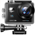 Moment 4U 4K Action Camera 20MP Underwater Waterproof Camera with EIS, External Microphone, Touch Screen, Slow Motion, 170° Wide Angle Sports Cam w/Gopro Compatible Accessories, 2 Batteries