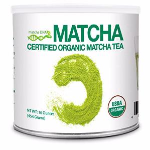 MatchaDNA Certified Organic Matcha Green Tea Powder (16 OZ TIN CAN)  Campaign