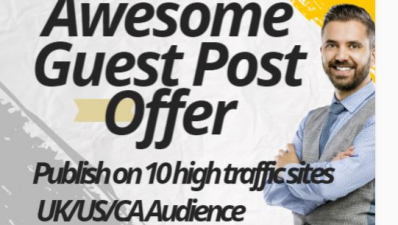 I will publish on 10 sites  with huge traffic with a link back to your site