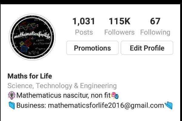 Mathematics for Life is an influencer